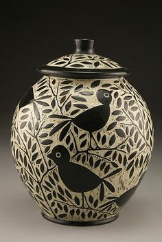 Blackbird Cookie Jar: Jennifer Falter: Ceramic Cookie Jar - Artful Home