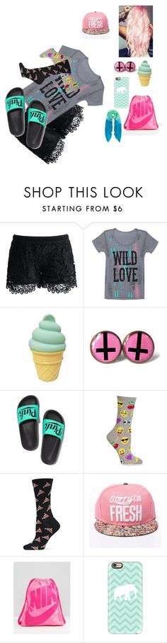"""""""kijgiofw9fposaj'pu"""" by kera-mendenhall ❤ liked on Polyvore featuring Chicwish, Grayson, Victoria's Secret, HOT SOX, NIKE, Casetify and Allegra London"""
