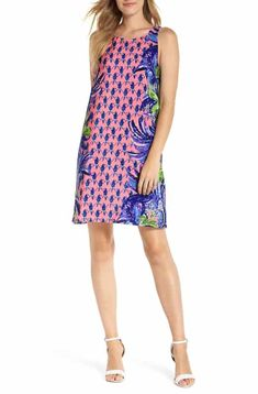 cfac35a76f78f1 Lilly Pulitzer® Jackie Silk Shift Dress Buy Dress, Dress For You, Latest