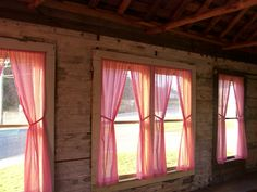 Use the red gingham curtains in the sunroom in the cottage instead.