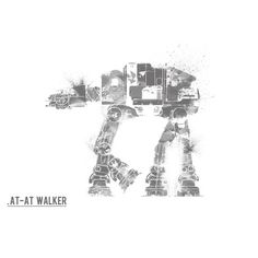 Star Wars art ATAT Walker star wars print movie by Harshness 2f29107b00a96