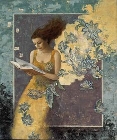 Art of Francois Fressinier Abstract Portrait, Klimt, William Morris, Beautiful Artwork, Figure Painting, Figurative Art, Painting Wallpaper, Painting Inspiration, Female Art