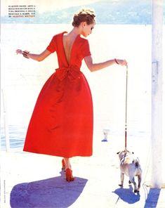 There's no Valentino without Pug ...  Photo by Ellen Von Unwerth, 1991