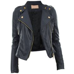 Diana New Womens Faux Leather Biker Gold or Metal Button Zip Crop... ($47) ❤ liked on Polyvore featuring outerwear, jackets, tops, coats, leather jackets, biker jacket, gold jacket, cropped faux leather jacket, zip jacket and gold faux leather jacket