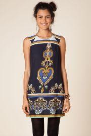 vestido curto maxi arabesco