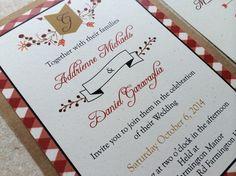 Picnic in the Park Invitation $1.75 wedding invites invitations