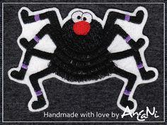 Applikation Spinne ♥ Aufnäher Spinne Halloween xxl von AnCaNi auf DaWanda.com