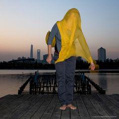 'YELLOW #1' Bright Lake, Century Park, Pudong, Shanghai, China - 2014 - dancer: Yun Cheng