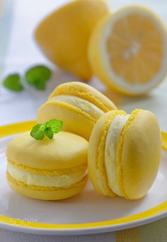 Colorful french macarons with lemon flavor - Colorful french-Colorful french macarons with lemon flavor – Colorful french macarons Colorful french macarons with lemon flavor – Colorful french macarons - Cute Desserts, Dessert Recipes, Macaron Flavors, Macaroon Cookies, Cute Baking, French Macaroons, Macaroon Recipes, Sweet Recipes, Food And Drink