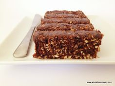 Chocolate Brownie Bars 1/2 cup sunflower seeds 1/4 cup pumpkin seeds 1/4 cup desiccated coconut 1 cup pitted prunes 1/2 cup raisins 1 tablespoon cacao or cocoa or carob