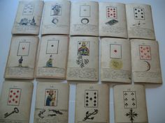 OLDEST MLLE LENORMAND PLAYING CARDS TO EXIST HAND DRAWN 1790/1820 ? | eBay