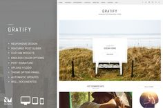 Gratify - Responsive Wordpress Theme by Nudge Media Design on Creative Market
