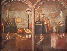 «Спор о вере». Картина 18 века