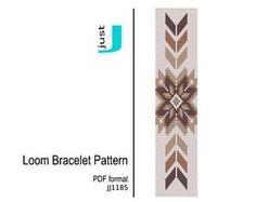 Bead loom pattern, PDF seed bead, bracelet DIY, beading, pattern Digital, jewlery pattern, geometric pattern, beading tutorial - JJ1185