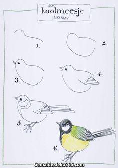 Großartige Zugehöriges Grafik - Sites new Art Drawings For Kids, Pencil Art Drawings, Bird Drawings, Animal Drawings, Easy Drawings, Drawing Birds Easy, How To Draw Birds, Bird Drawing For Kids, Bird Painting Acrylic