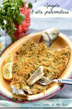 Branzino al forno alla palermitana – The World Fish Recipes, Seafood Recipes, My Recipes, Ricotta, Sicilian Recipes, Cannoli, Fish And Seafood, Carne, Quiche