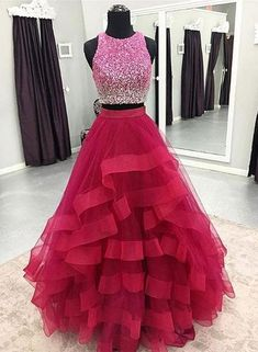Two Pieces Prom Dress,Long Homecoming Dress Homecoming Dress, Long Homecoming Dress, Prom Dresses Two Piece, Prom Dress Homecoming Dresses 2019 Homecoming Dresses Long, Ball Gowns Prom, A Line Prom Dresses, Cheap Prom Dresses, Quinceanera Dresses, Party Gowns, Ball Dresses, Evening Dresses, Formal Dresses