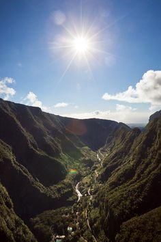 La Réunion vue d'hélicoptère