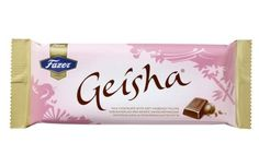 Fazer Geisha Bar Fazer's Geisha is a tasteful sensation of milk chocolate and a soft hazelnut filling that melts in your mouth slowly. Product Family: Candy Brand: Fazer Country: Made in Finland Size: Bar Candy Recipes, Gourmet Recipes, Chibi Food, Whole Milk Powder, Candy Brands, Sample Menu, Cafe Shop, Food Drawing, Powdered Milk