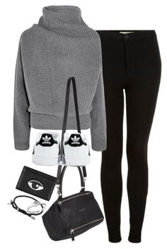 """Untitled #1207"" by breannaflorence ❤ liked on Polyvore featuring Topshop, Acne Studios, Givenchy, adidas, Kenzo, David Yurman and Satya Jewelry"