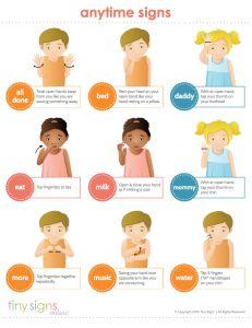 Tiny Signs - Starter Baby Sign Language Printable