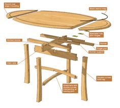 Drop Leaf Table - The Woodworkers Institute
