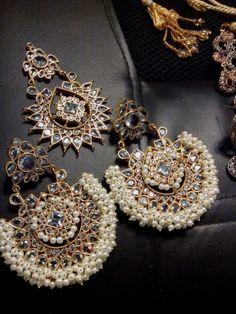 Final look of our stunning kundan earrings