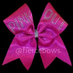 Breast Cancer Awareness Cheer Bow by MyFierceBows on Etsy, $15.00