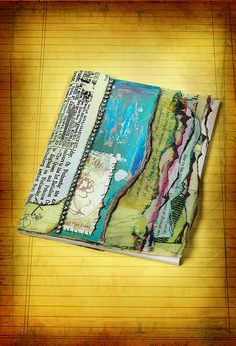 Ruins & Relics Journal, Altered journal by Susan Lenart Kazmer on Scrapbook Soup, DIY *