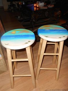 set of round solid wood bar stools perfect for a tropical theme beach theme furniture 1000