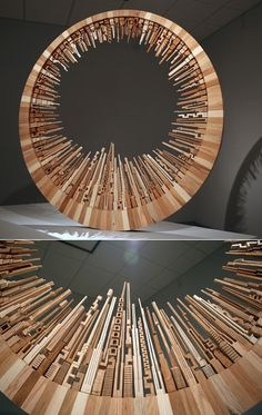 """Stunning. James McNabb, McNabb & Co., """"Made entirely of scrap wood, this work is an interpretation of making something out of nothing."""""""