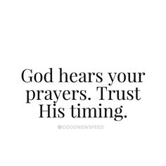 His timing is always best. #goodnewsfeed