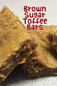 ~My Recipe Book~: Brown Sugar Toffee Bars