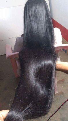 Long healthy hair.