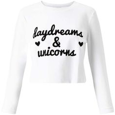 Miss Selfridge PETITE Daydreams Sweatshirt ($14) ❤ liked on Polyvore featuring tops, hoodies, sweatshirts, shirts, crop tops, long sleeves, petite, white, white cotton shirt and petite white shirt