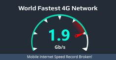 Record-breaking 1.9 Gbps Internet Speed achieved over 4G Mobile Connection #esflabsltd #securityawareness #cybersecurity