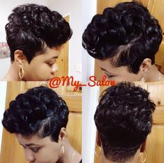 Get silky locks without flat ironing or just refresh an old press with the silk wrapping technique. Cute Hairstyles For Short Hair, Pretty Hairstyles, Short Hair Cuts, Straight Hairstyles, Short Hair Styles, Short Pixie, Pixie Styles, Black Hairstyles, Pixie Cut