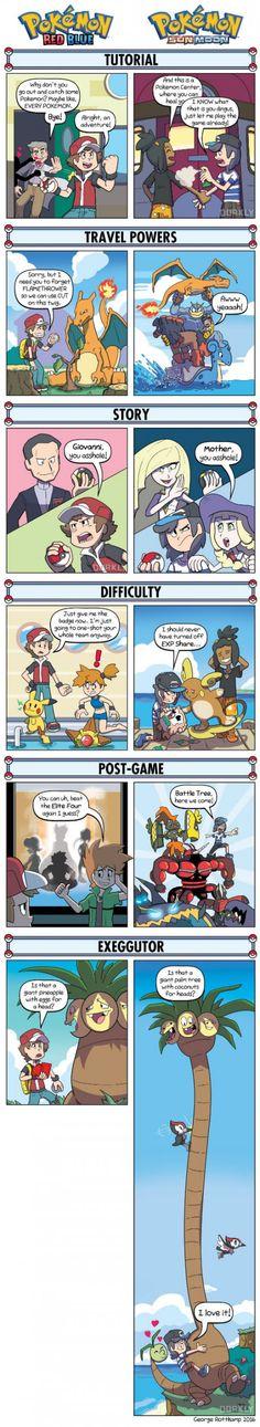 Pokemon Red/Blue VS Pokemon Sun/Moon