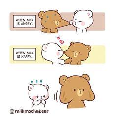 Cute Couple Comics, Cute Couple Cartoon, Cute Love Cartoons, Cute Comics, Funny Cartoons, Cute Bear Drawings, Cartoon Drawings Of Animals, Kawaii Drawings, Funny Cartoon Characters