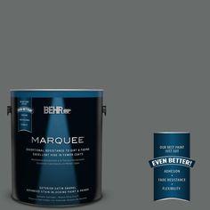 BEHR MARQUEE 1 gal. #PPU25-03 Shadows Satin Enamel Exterior Paint