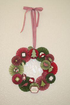 Making Memories Paper Wreath by Designer Catherine Oakley