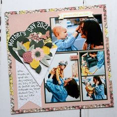 Take a Mom-ent to Celebrate a Wonder Woman — Mother's Day Scrapbook Layout and DIY Mother's Day Card – Creative Memories Blog