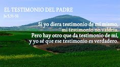 EVANGELIO DE JUAN: EL TESTIMONIO DEL PADRE Ju 5,31-32
