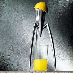 "Phillipe Stark's Juicy Salif aluminum citrus squeezer. Anybody else thinking ""War of the Worlds""?"