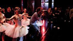 Director Darren Aronofsky on the set ofBlack Swan (2010).