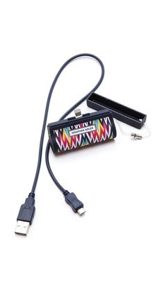 Jonathan Adler on-the-go charger for iPhone 5. So pretty!