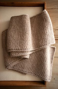 Laura's Loop: Men's Mini Herringbone Scarf - The Purl Bee - Knitting Crochet Sewing Embroidery Crafts Patterns and Ideas!