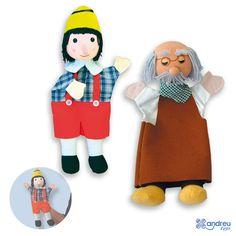 Pinocho - Ref. 16376 Abuelo - Ref. 16387 Pinocho Andreu Toys. Medidas: 30 cm.