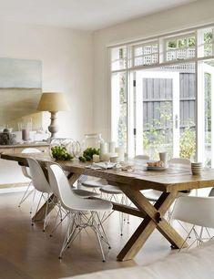 Design salle à manger de style campagne chic et rustique