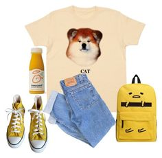 """""""Untitled #762"""" by rowlet ❤ liked on Polyvore featuring Converse and Levi's"""